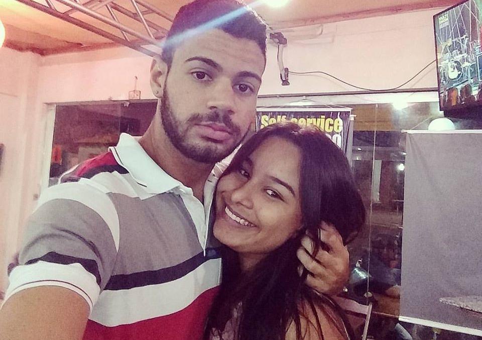 Bombeiro Lucas Soares e a esposa Raynara Mesquita - Foto: Reprodução/Facebook