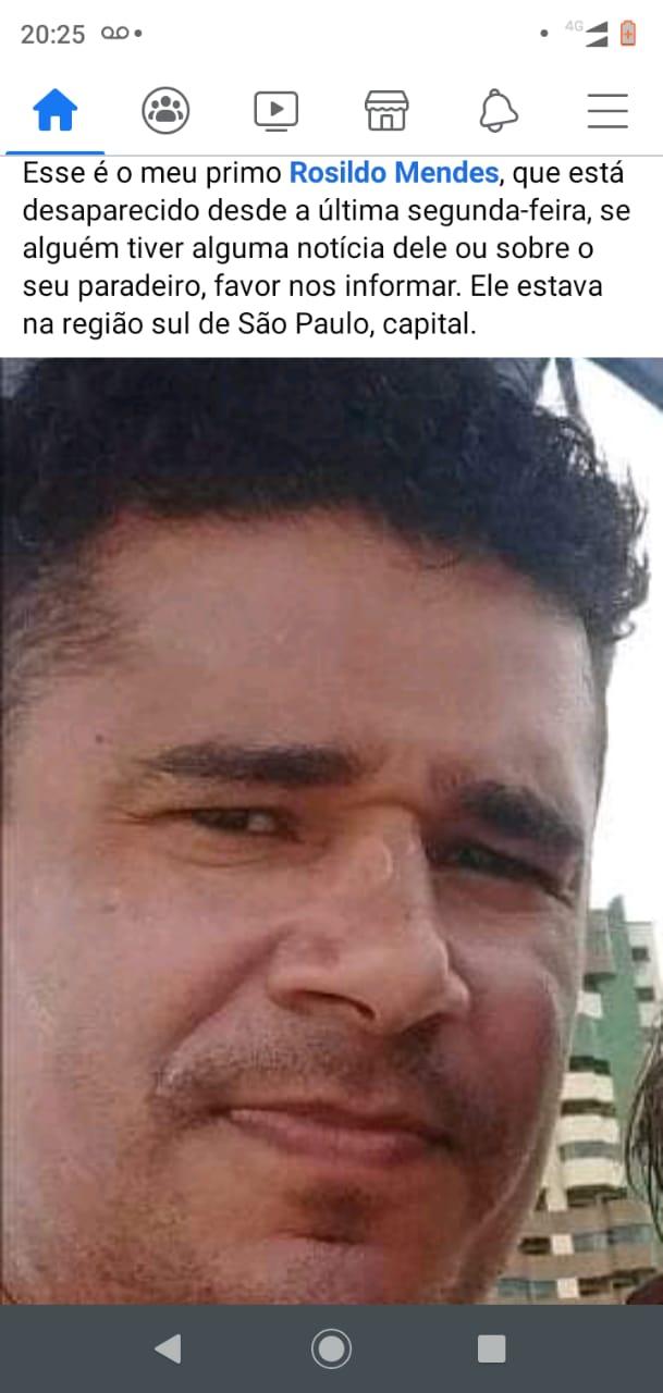 Filho de São João da Serra está desaparecido em São Paulo - Imagem 1