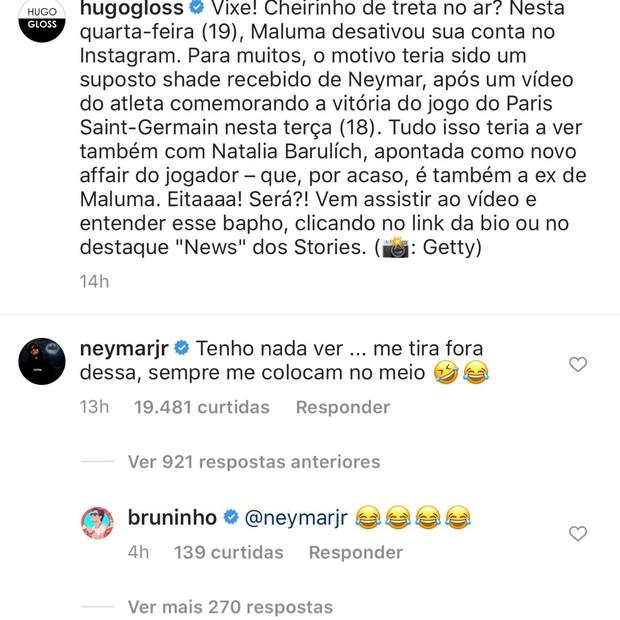 Neymar nega ter relação com saída de Maluma do Instagram - Imagem 2