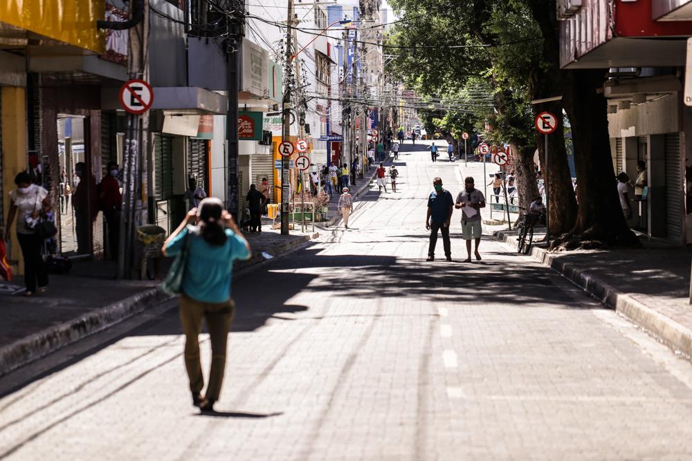 Ruas no Centro de Teresina estão liberadas / Crédito: Rômulo Piauilino