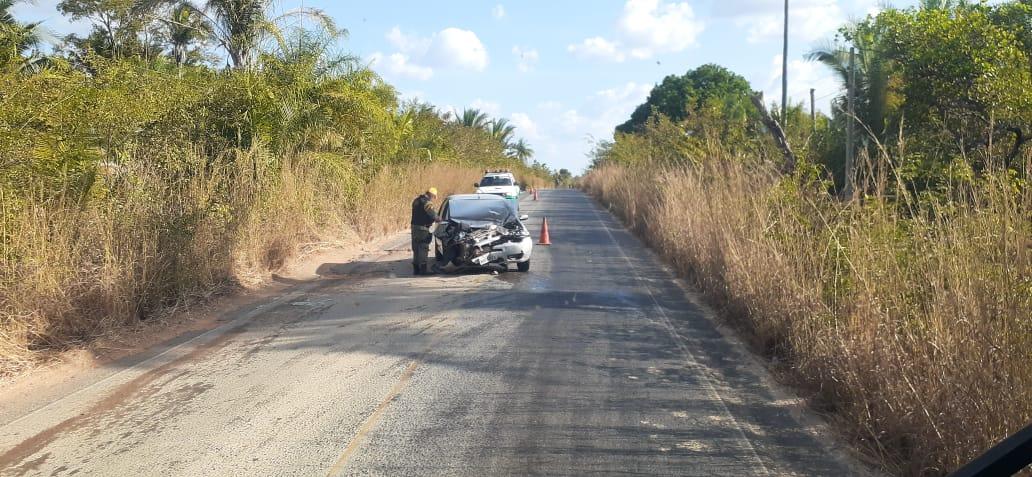 Colisão entre veículos deixou um ferido na PI-130 / Crédito: Reprodução