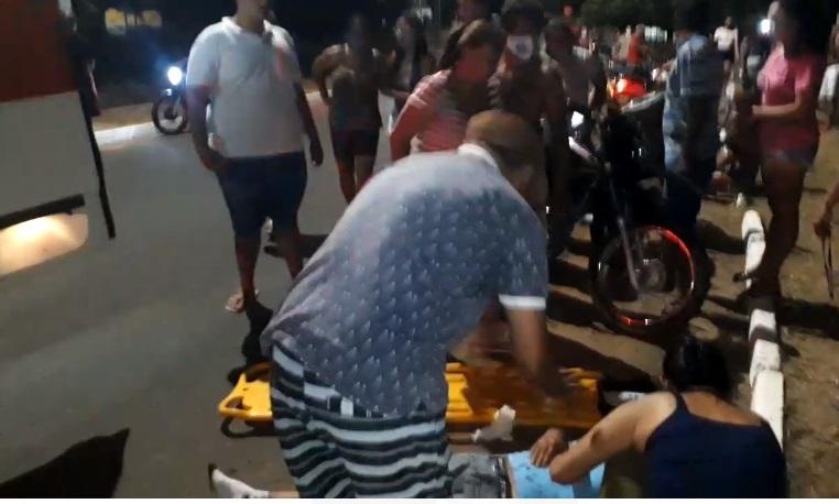 Após o atropelamento, o motociclista evadiu-se do local
