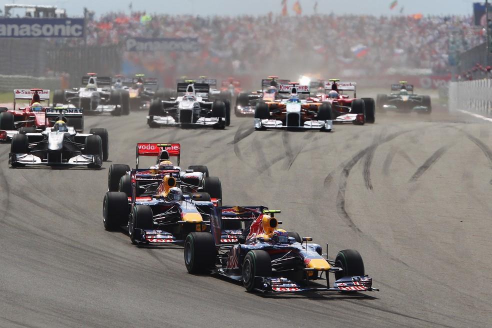 Largada do GP da Túrquia em 2010-Foto: Getty Images