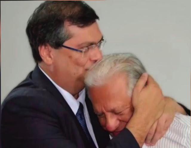 Flávio Dino e o pai Sálvio Dino - Foto: Reprodução