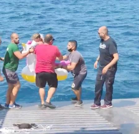 Criança de 4 anos resgatada