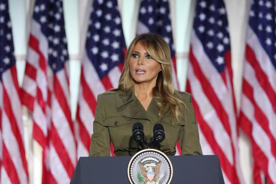 Melania falou diretamente da Casa Branca (Foto: Michael Reynolds)