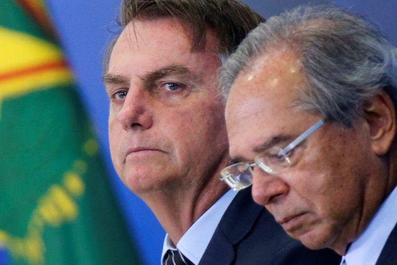 Presidente Jair Bolsonaro e Paulo Guedes