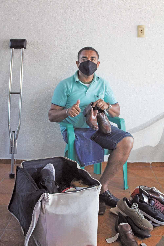 Peças de calçados são de mostruários de lojas - Foto: Raíssa Morais