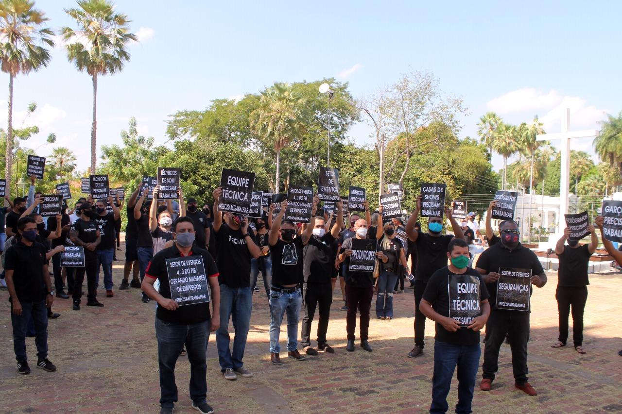 Protesto pela retomada dos eventos em Teresina (Divulgação)