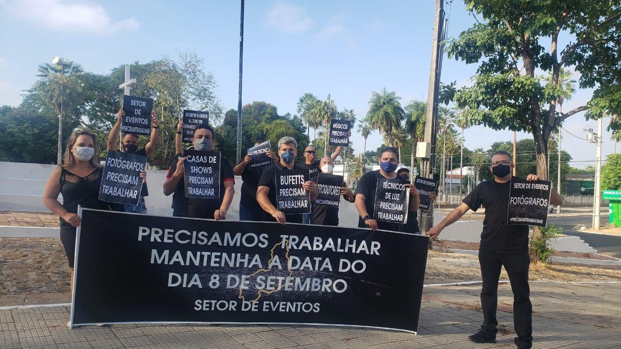 Representantes do setor de eventos fazem protesto para retomada em Teresina - Foto: Divulgaçao
