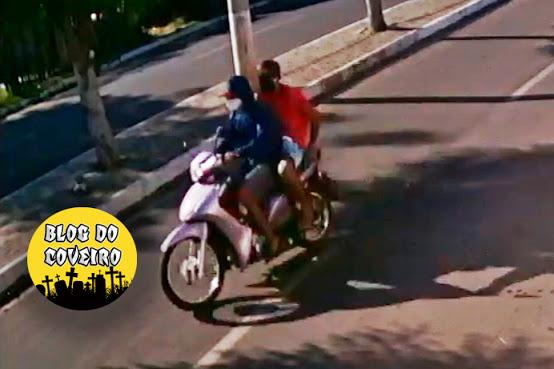 Dupla rouba motocicleta e comércio em Cocal - PI (Foto: Blog do Coveiro)