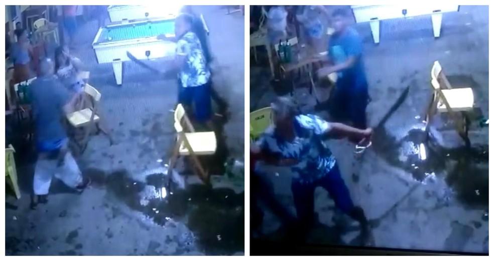 Em um dos golpes, a vítima teve a mao decepada - Foto: Reproducao