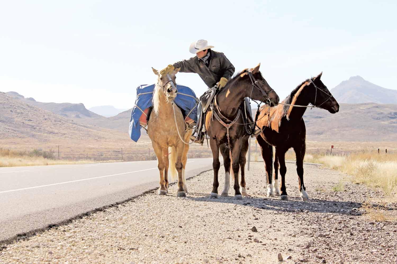 Aventureiro usou 11 cavalos diferentes para fazer todo percusso - Foto: Arquivo pessoal