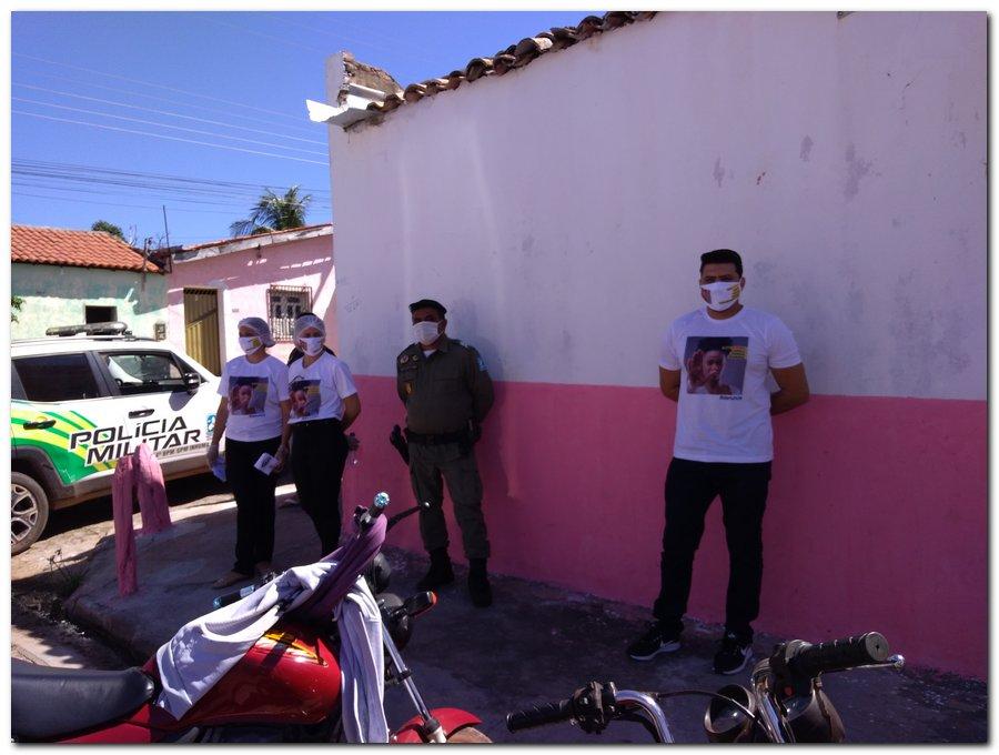 Campanha sinal vermelho contra a violência doméstica em Inhuma-Piauí - Imagem 6