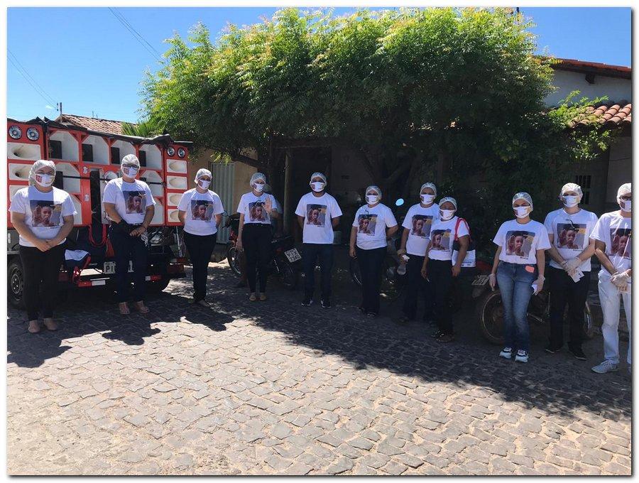 Campanha sinal vermelho contra a violência doméstica em Inhuma-Piauí - Imagem 1