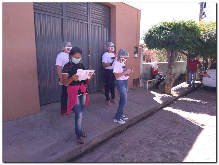 Campanha sinal vermelho contra a violência doméstica em Inhuma-Piauí - Imagem 5