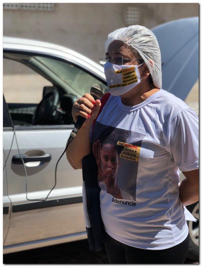 Campanha sinal vermelho contra a violência doméstica em Inhuma-Piauí - Imagem 2