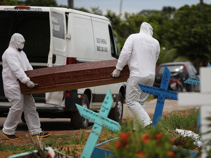 Brasil se aproxima de 95 mil mortes por covid-19, mostra boletim  - Imagem 1