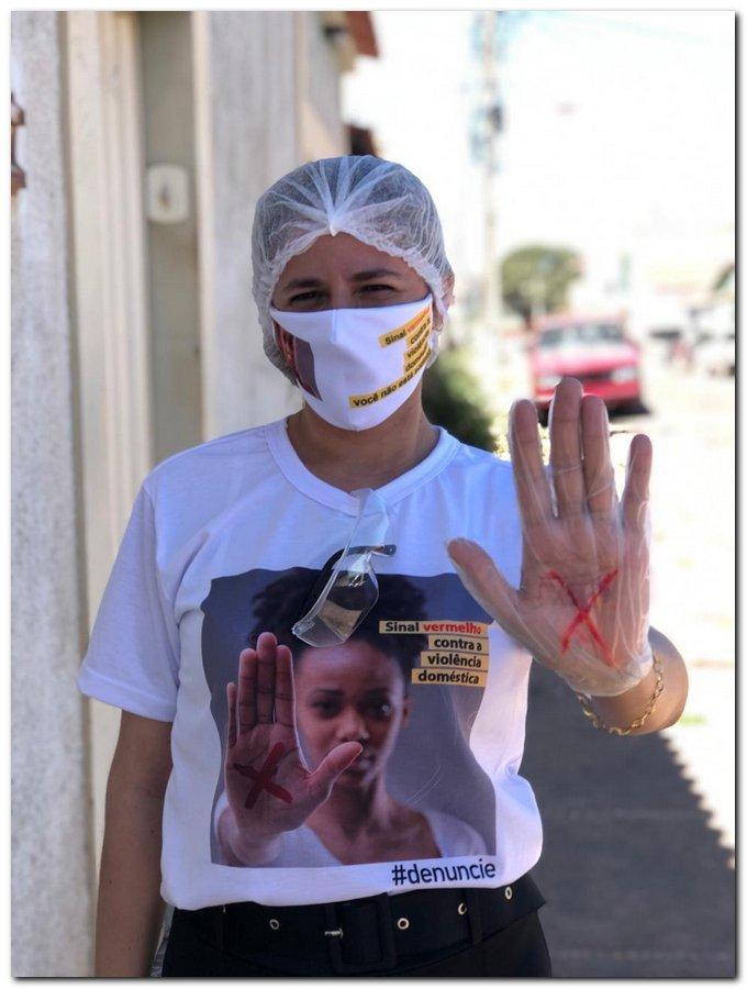 Campanha sinal vermelho contra a violência doméstica em Inhuma-Piauí - Imagem 8