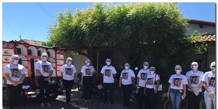 Campanha sinal vermelho contra a violência doméstica em Inhuma-Piauí