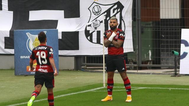 Santos x Flamengo - Vila Belmiro - Brasileirão 2020 (Foto: Maurício de Souza/ Diário do Litoral/ Estadão Conteúdo)