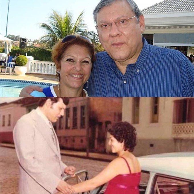 Milton Neves e Lenice Magnone (Reprodução/ Twitter)