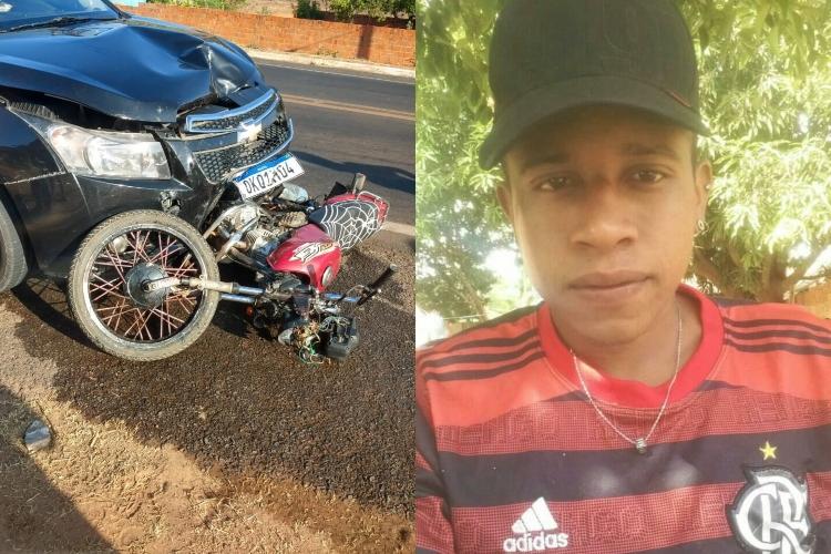 Jovem em motocicleta morre após colidir frontalmente contra veículo no sul do Piauí (Reprodução/ Mural da Vila)