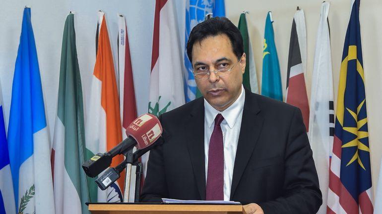 Primeiro-ministro libanês, Hassan Diab (Foto: Observador)