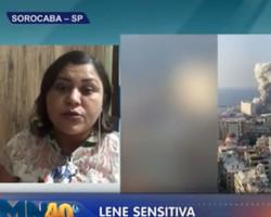 Sensitiva que afirma ter tido contato sobrenatural com Gugu Liberato previu tragédia em Beirute