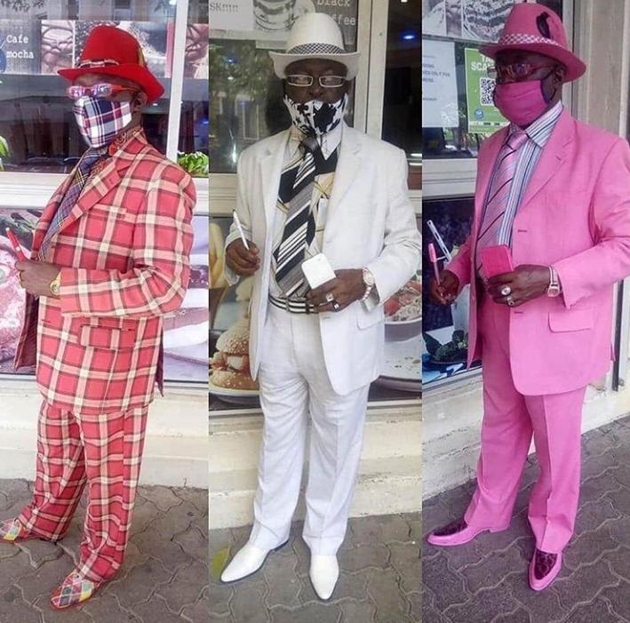 """Confira os trajes do """"homem mais fashion da África"""" durante a pandemia - Imagem 3"""