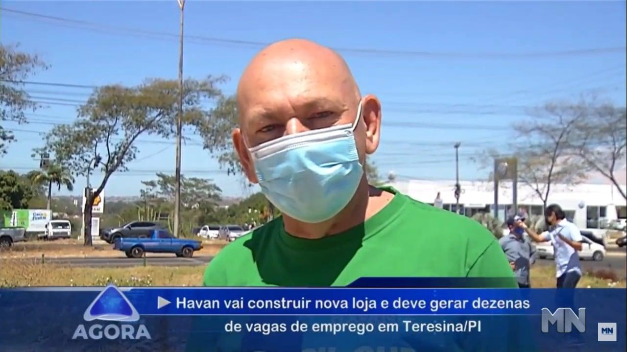 Luciano Hang esteve em Teresina no local em que seá construída nova Loja (TV Meio Norte)