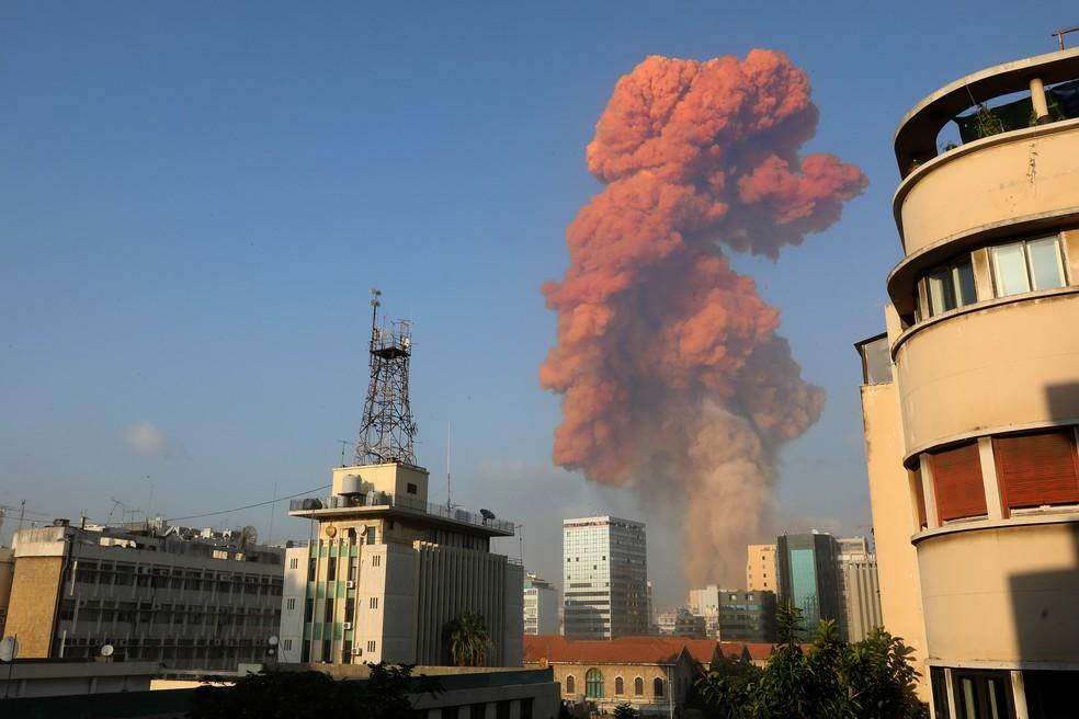 Explosão em Beirute - Crédito: Reuters, Anwar Amro/AFP e Ibrahim Amro/AFP
