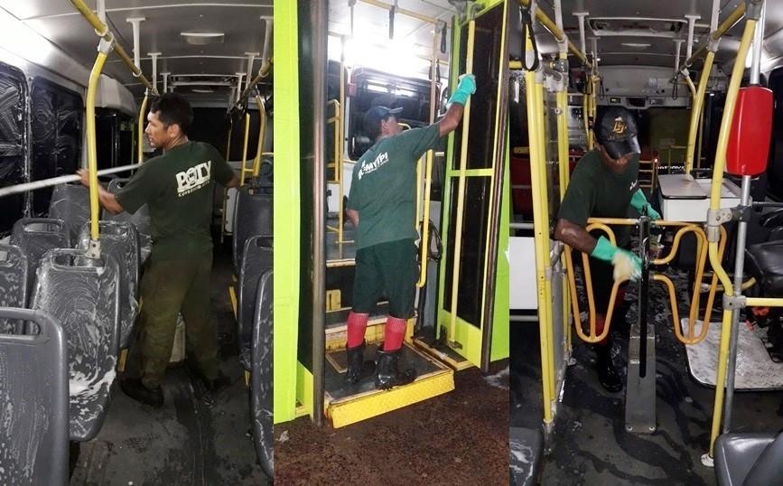 Higienização do transporte coletivo de Teresina passa a ser diária