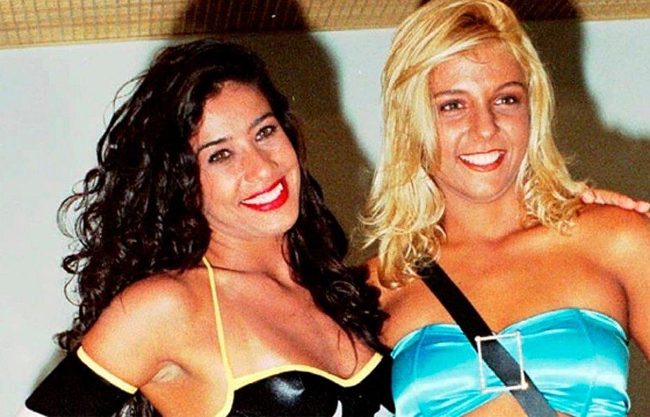 """Scheila Carvalho e Carla Perez juntas no """"É o Tchan"""""""
