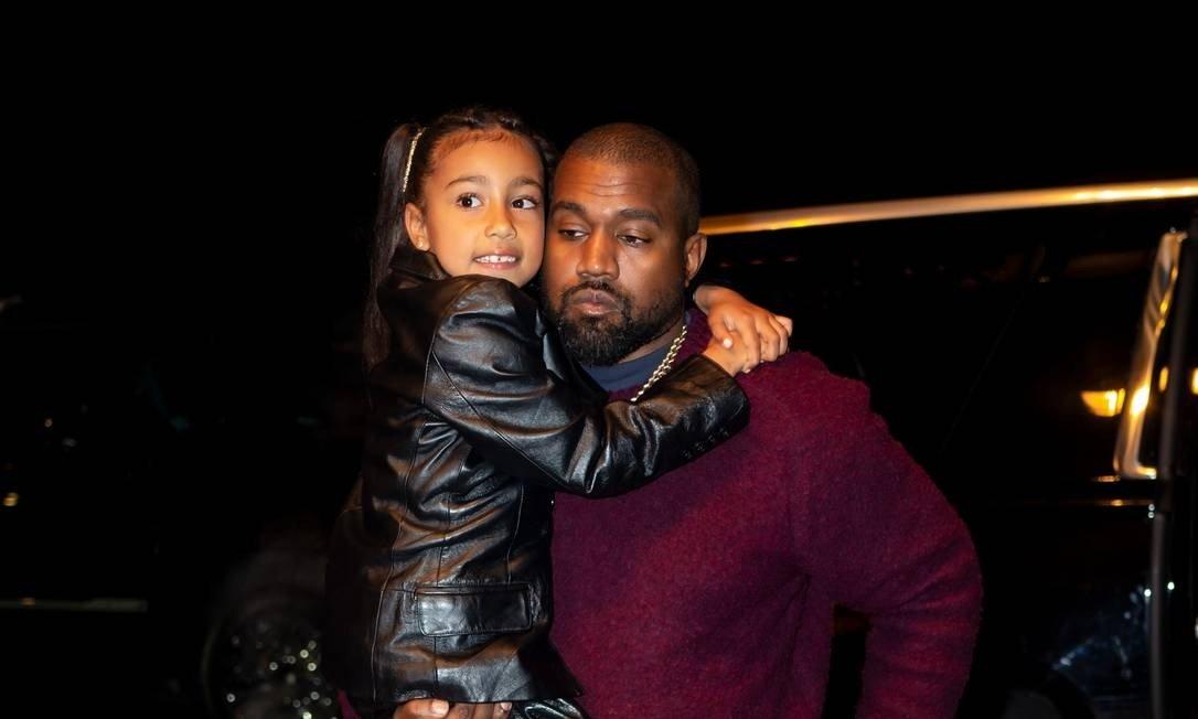 Kanye West e North West Foto: TheStewartofNY / GC Images