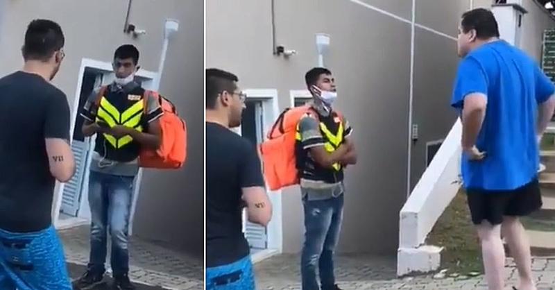 Motoboy foi humilhado por morador de condomínio