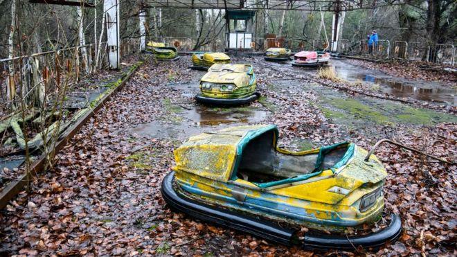 Pripyat, a cidade perto da usina de Chernobyl, é hoje uma cidade fantasma (Foto: Getty)