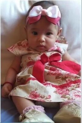 Maria Emília, de dois meses, foi morta após ser atacada por cão em Teresina
