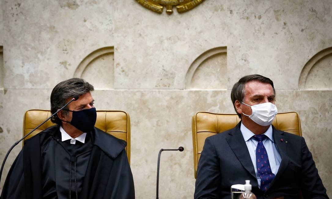 Fux toma posse como presidente do STF Foto: Pablo Jacob / Agência O Globo