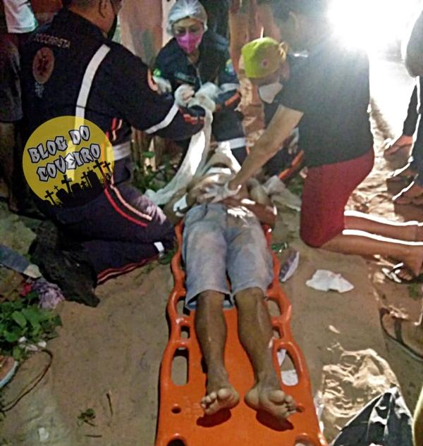 A vítima ainda foi socorrida com vida