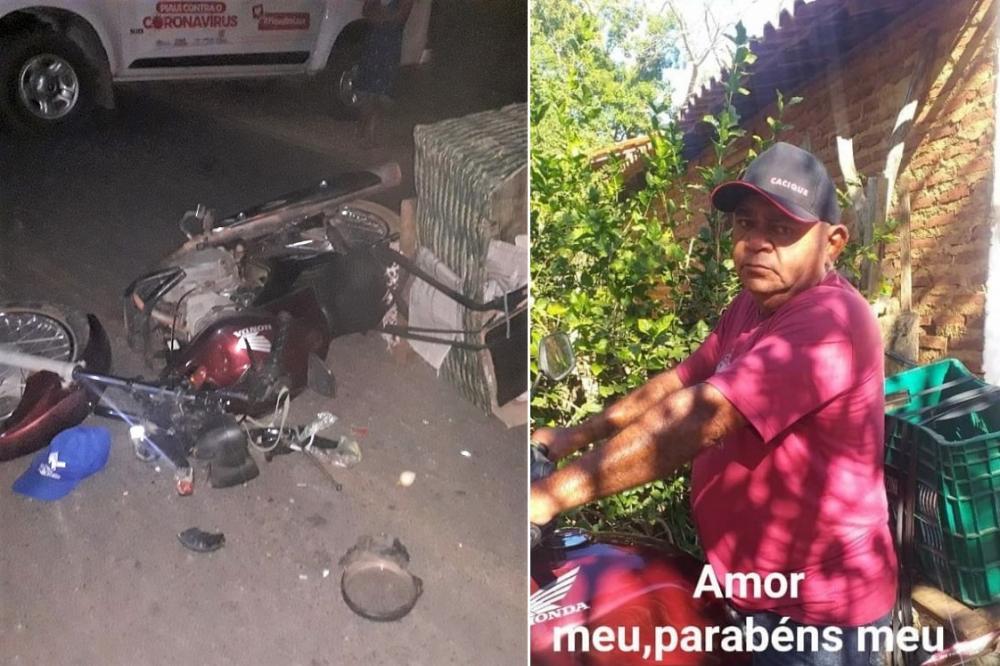 Vendedor de verduras morre ao bater moto em cavalo em Água Branca - Imagem 1