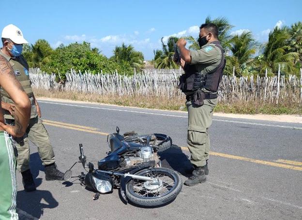 Motocicleta da vítima