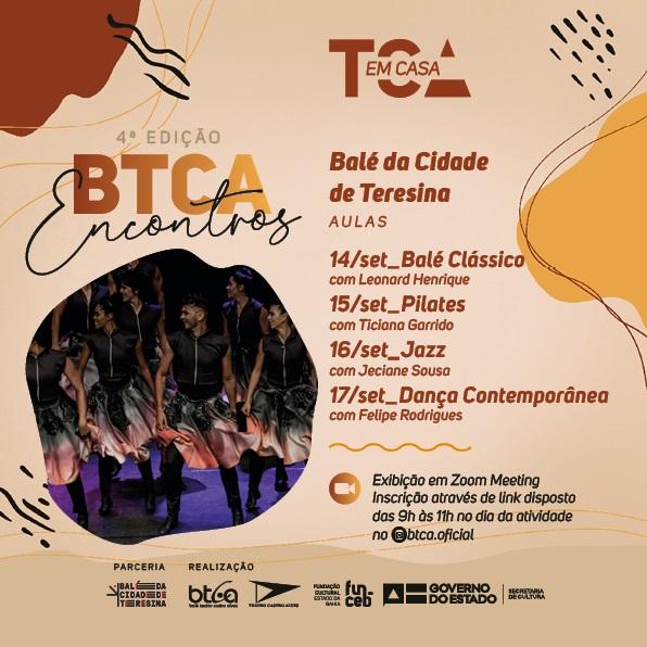 Balé da Cidade de Teresina compartilhará aula com Companhia da Bahia  - Imagem 1