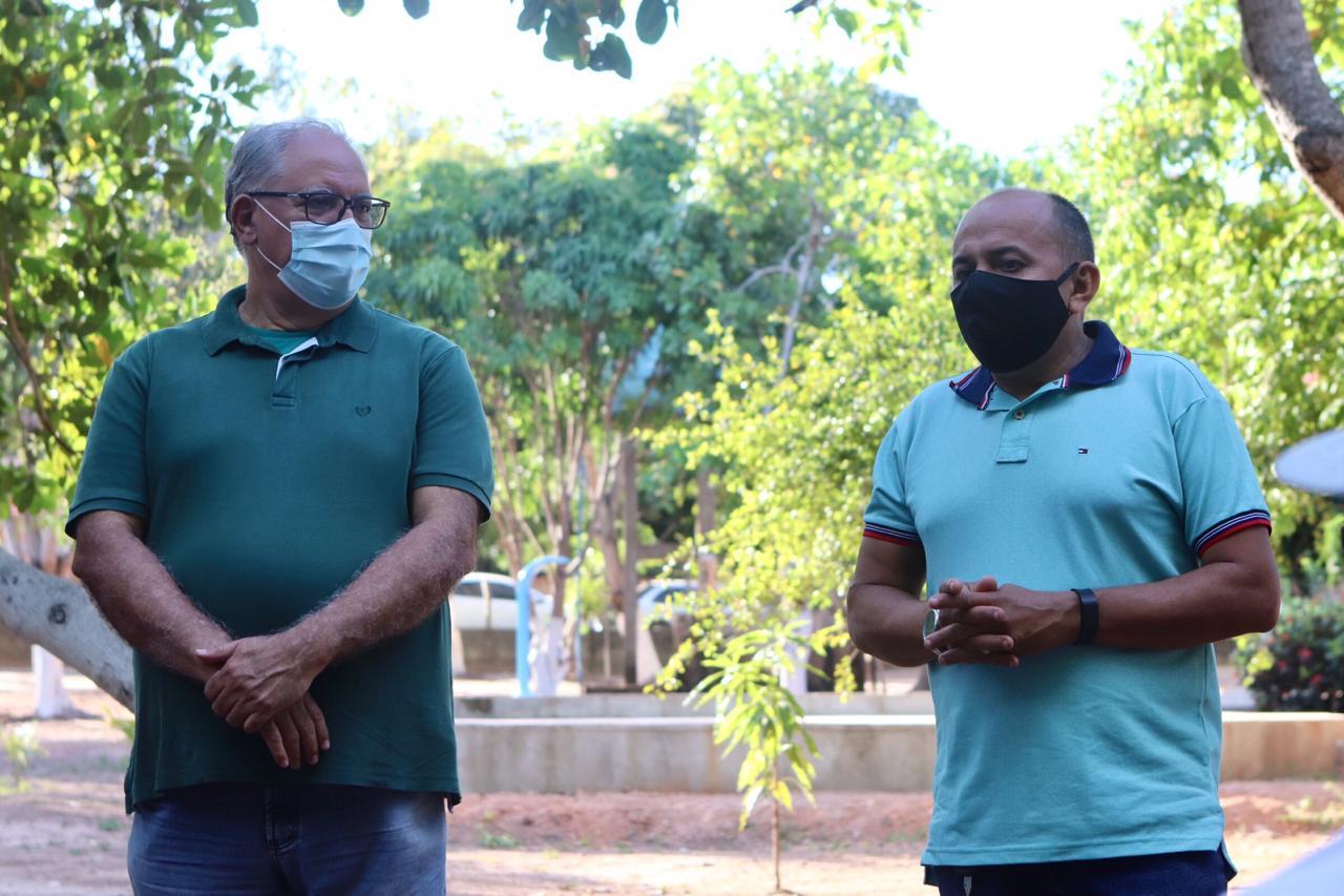 Vereador Neto do Angelim (PP) e o pré-candidato Kléber Montezuma