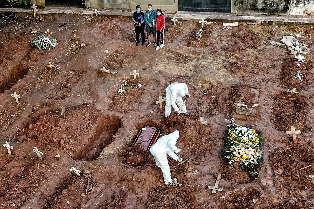 Brasil registra 814 mortos pela Covid-19 em 24 horas (Reprodução)