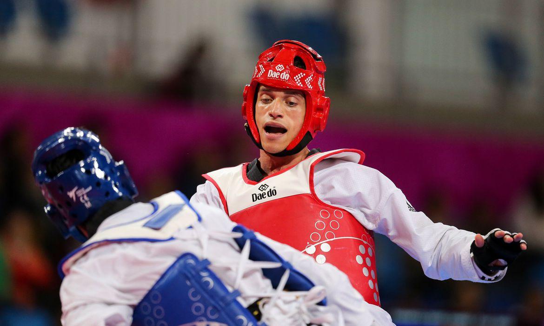 Ícaro Miguel, medalha de prata na categoria até 80kg do taekwondo nos Jogos Pan-Americanos Lima 2019 (Abelardo Mendes Jr/rededoesporte.gov.br/Direitos Reservados)
