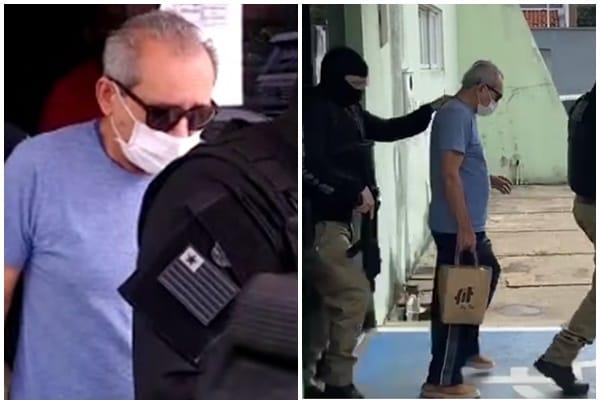 Jornalista Arimatéia Azevedo sendo transferido para penitenciária
