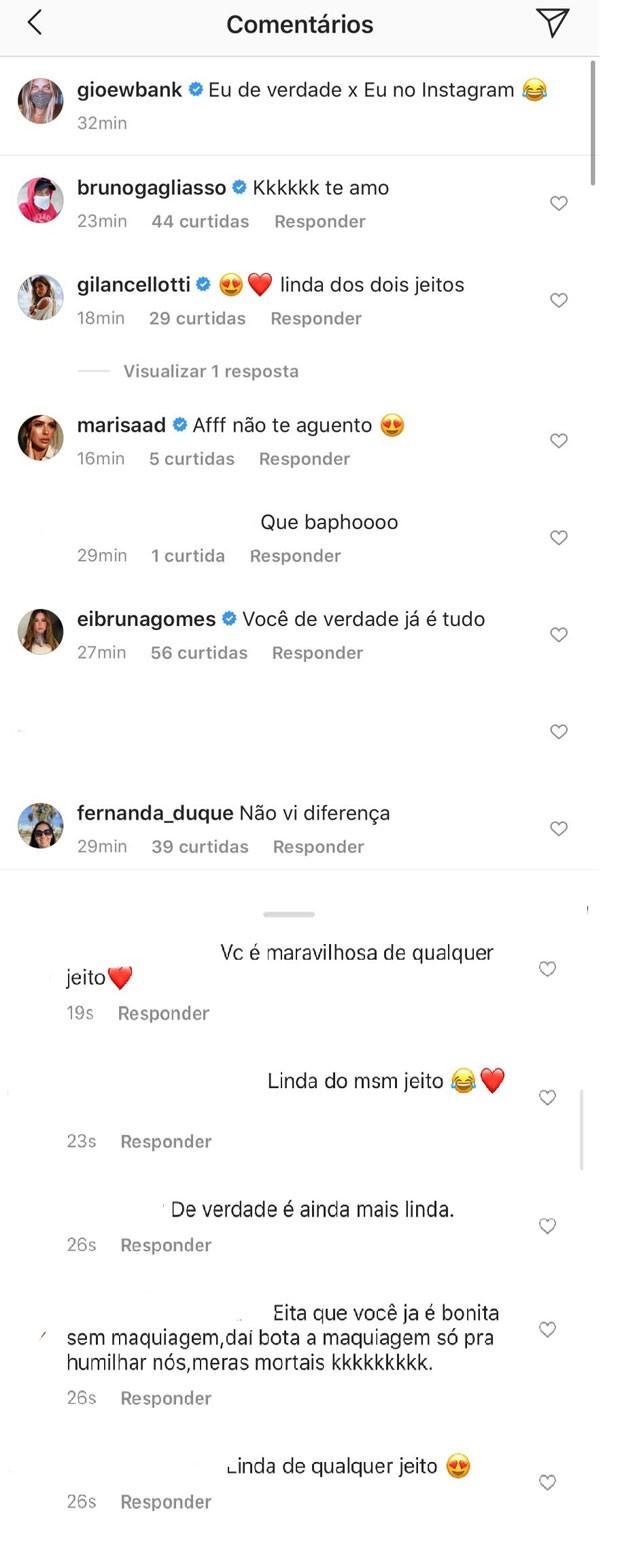 """Giovanna Ewbank posa sem maquiagem e produzida: """"Verdade x Instagram"""" - Imagem 2"""
