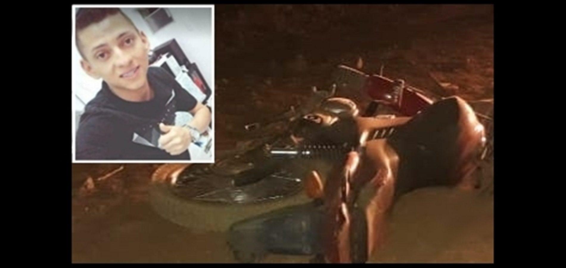 Jovem de 23 anos morreu após perder controle de moto