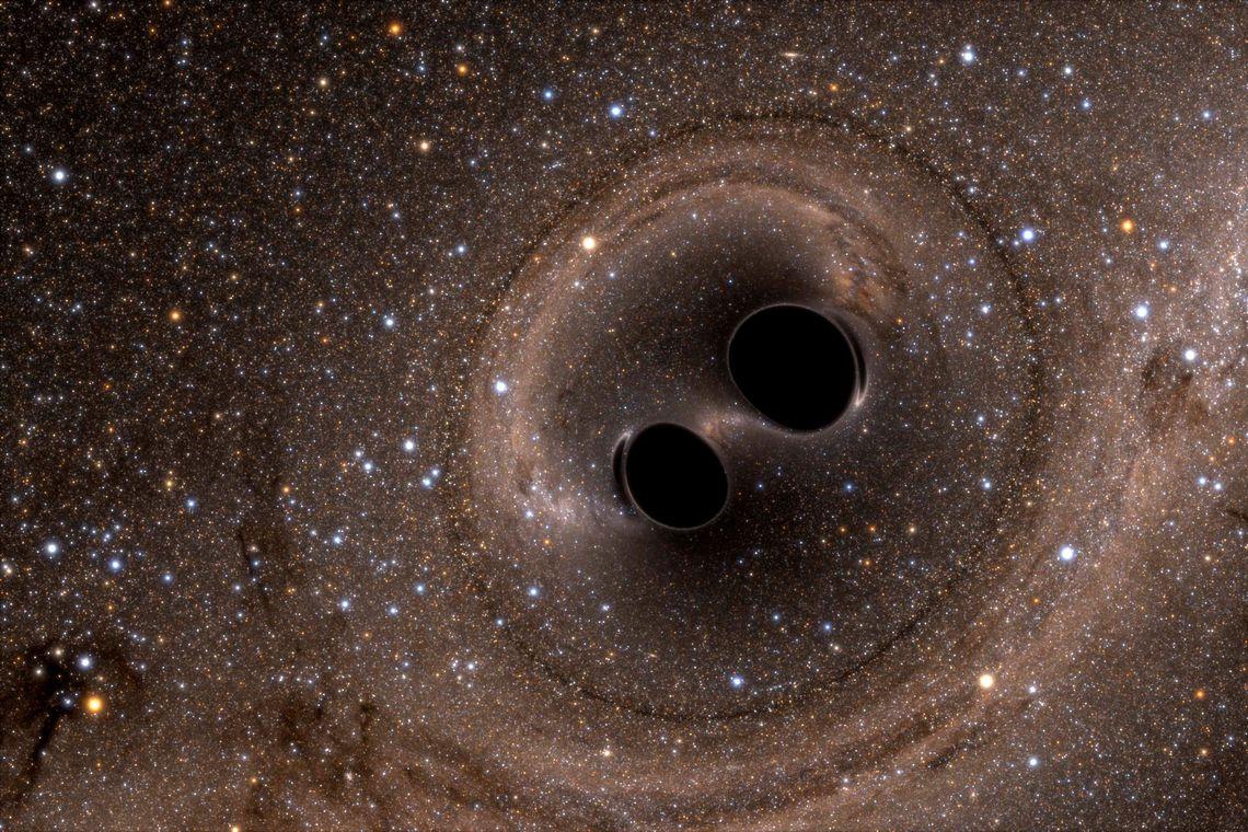 Buracos negros (Imagem: Commics science)